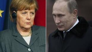 默克尔希望普京为乌克兰走出政治危机找到政治解决途径 (2014年2月23日)
