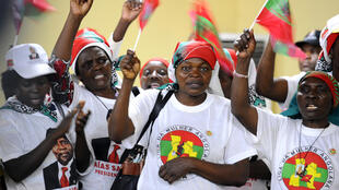 Apoiantes da UNITA. 29/08/2012, Luanda.