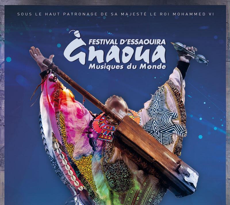 Affiche du 20è Festival Gnaoua à Essaouira au Maroc.
