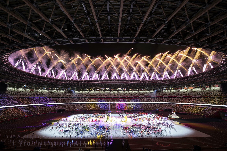 Soirée de clôture des Jeux Paralympiques de Tokyo. Le 5 septembre 2021.