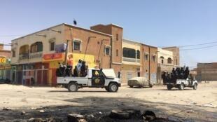 Une patrouille des forces de sécurité à Nouakchott, le 23 juin 2019.