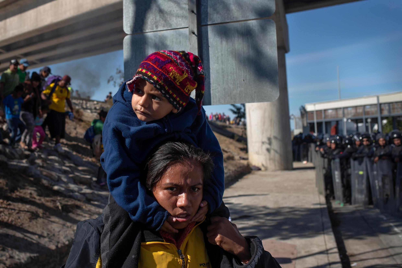 Cientos de centroamericanos han intentado llegar a Estados Unidos en caravanas desde Octubre 2018. Tijuana, Mexico.