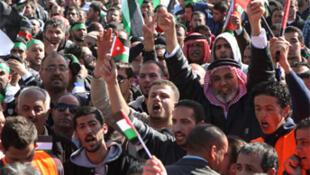Manifestations contre la hausse des prix du gaz, en novembre 2012 à Amman.