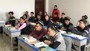 Một lớp học của người Hồi Giáo ở Viện Hồi Giáo Tân Cương ở Urumqi, trong một chuyến thăm do chính quyền Trung Quốc tổ chức, ngày 03/01/2019.