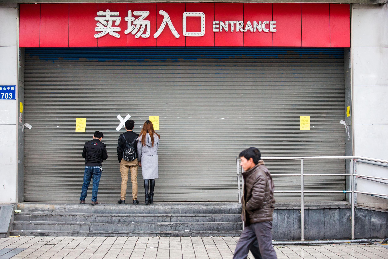 Một cửa hàng của hãng Lotte bị đóng cửa, tại Hàng Châu (Hangzhou), Chiết Giang (Zhejiang), Trung Quốc, ngày 05/03/2017