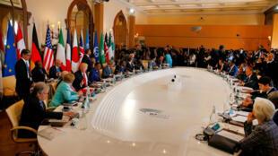 Hoton shugabannin kungiyar G7 a Sicily na kasar Italia