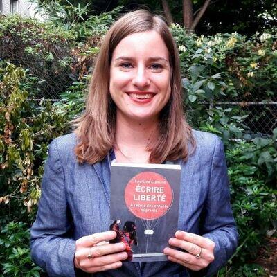 Lauriane Clément auteure du livre «Ecrire liberté à l'école des enfants migrants».