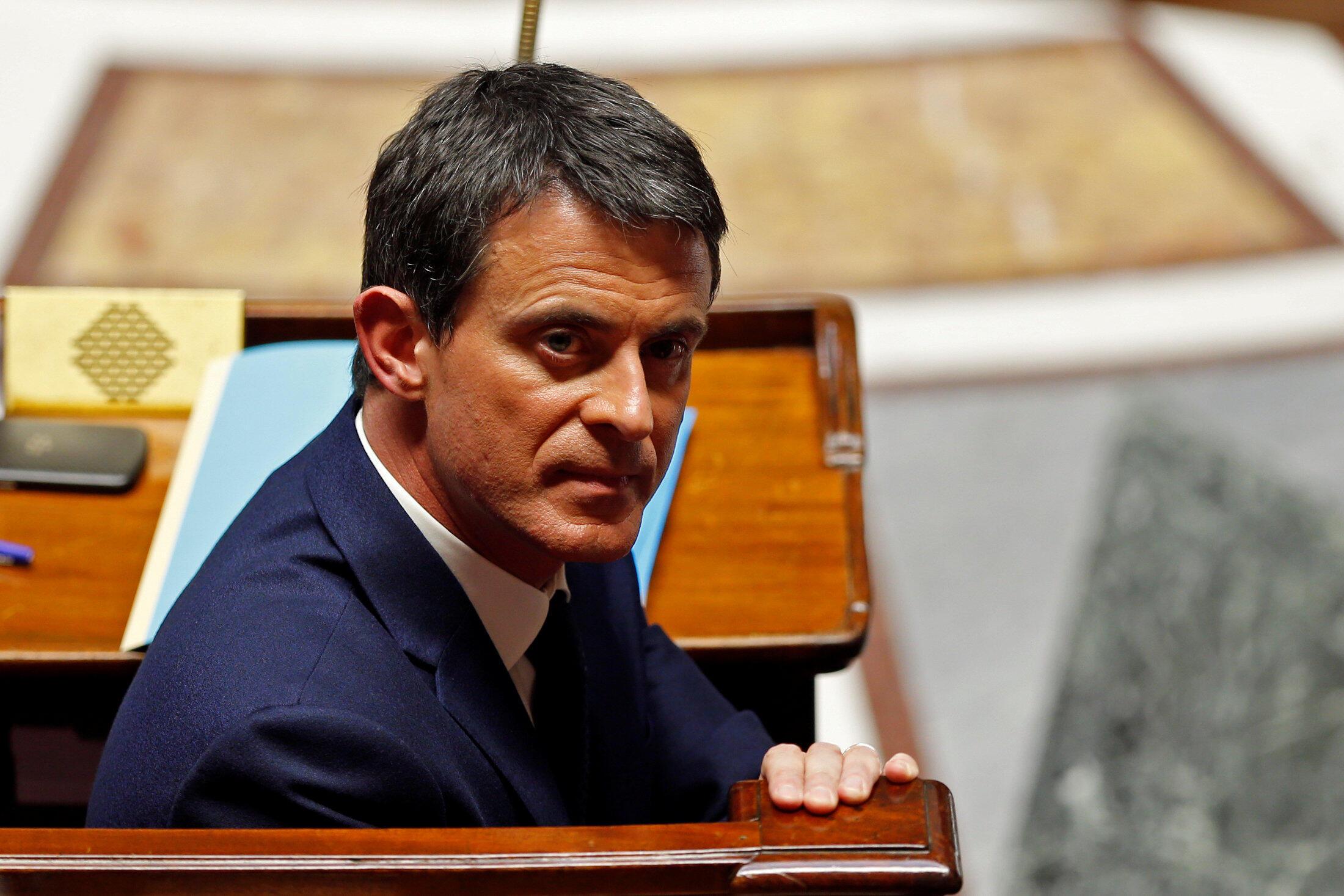O primeiro-ministro francês, Manuel Valls
