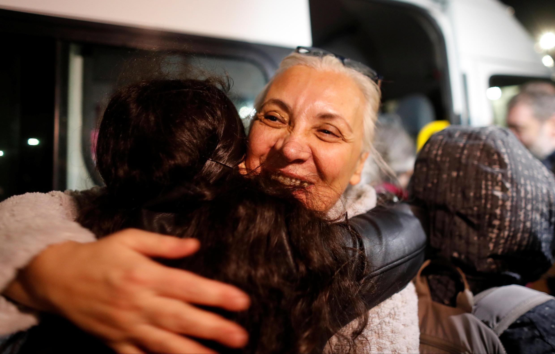 Bà Idil Eser, giám đốc Ân Xá Quốc Tế tại Thổ Nhĩ Kỳ, sau khi được trả tự do, Istanbul, 26/10/2017.