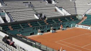 Quadra central de Roland Garros, um dos principais torneios do tênis mundial.