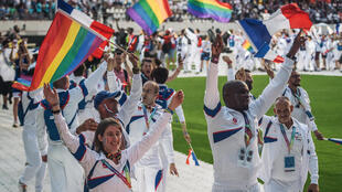 Participants at the 2018 Gay Games in Paris