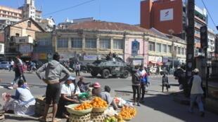 La capitale malgache, Antananarivo, au mois de juillet 2020 en plein confinement.