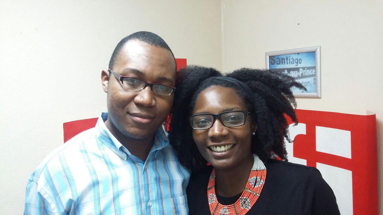 Josemar Saint Victor, responsable de Campus France Haïti et Klerya Gordien, responsable de France Alumni en Haiti.