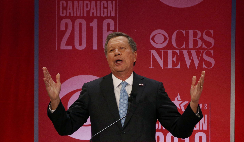 El candidato republicano a las primarias, John Kasich, Carolina del Sur, 13 de febrero de 2016.