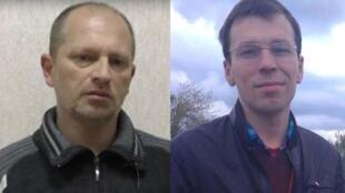 Эдуард Неделяев (слева), осужденный на 14 лет в ЛНР, и Василий Муравицкий, арестованный СБУ в Житомире.