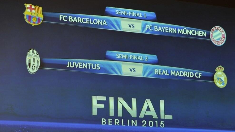 Barcelona za ta hadu da Bayern Munich, Juventus da Real Madrid a zagayen dab da na karshe a gasar zakarun Turai