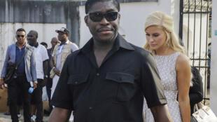Teodorin Obiang Nguema, en 2014 à Malabo en Guinée équatoriale.