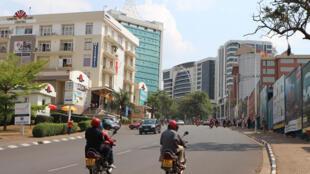 Le taux d'urbanisation africain est de 4% par an, c'est le plus fort au monde. Centre-ville de Kigali.
