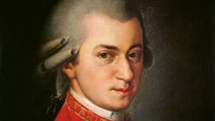 Wolfgang Amadeus Mozart, né le 27 janvier 1756, mort à Vienne le 5 décembre 1791.