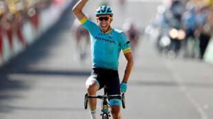 Omar Fraile se impone en la decimocuarta etapa del Tour en Mende, 21 de julio de 2018.