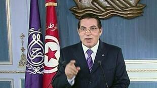 Ousted Tunisian president Zine El Abidine Ben Ali, 13 January 2011