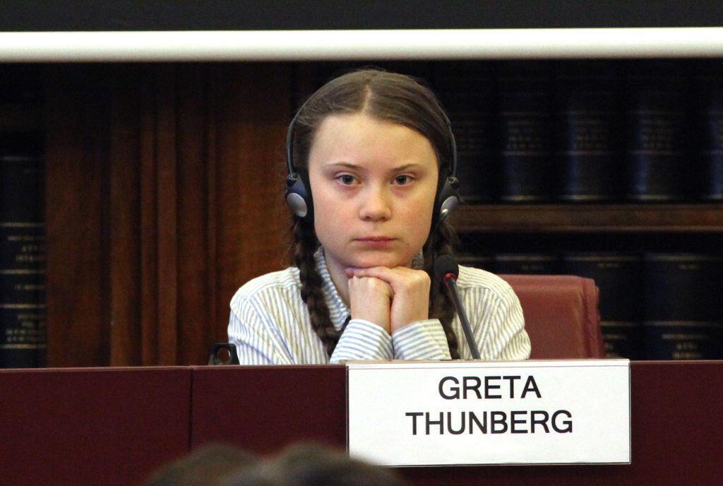 Greta Thunberg đã trở thành nguồn cảm hứng giúp nhiều thanh thiếu niên đấu tranh cho khí hậu. (Ảnh minh họa chụp Greta Thunberg tại Nghị Viện Ý, ngày 18/04/2019)