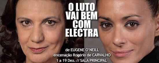 """Teresa Gafeira e São José Correia, actrizes na peça """"O luto vai bem com Electra"""" ."""
