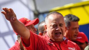 El presidente de la Asamblea Constituyente venezolana Diosdado Cabello, participa de un acto en Caracas, el 27 de febrero de 2020