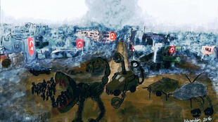 The painting for which Zehra Dogan was sent to prison for nearly two years.