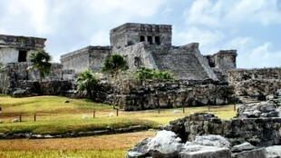 Một ngôi tháp cổ của người Maya ở Tulum (Mêhicô) - Reuters