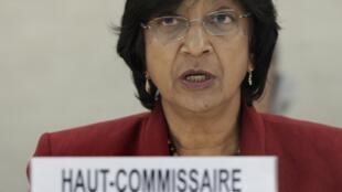 Наванетхем Пиллэй Верховный комиссар Совета по правам человека ООН на специальной сессии в Женеве 25/02/2011