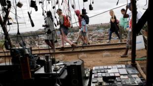 Le bidonville de Kibera.