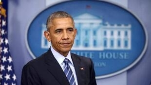 O  Presidente cessante dos Estados Unidos, Barack Obama.16 de Dezembro de 2016