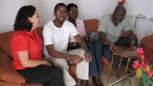 Trois patients, un senegalais, une malienne et un togolais, venus se faire soigner en Tunisie et accueillis par l'agence Apollo Health Care