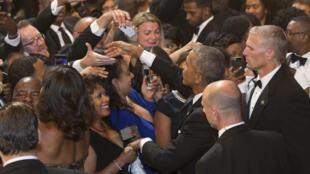 O presidente Barack Obama em jantar organizado pelo Congressional Black Caucus Foundation (que representa os membros afro-americanos), em 17/09/16