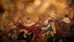 油画中的拿破仑(资料图片)