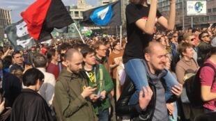 В акции в защиту Telegram приняли участие более 11 тысяч человек, по данным независимых наблюдателей