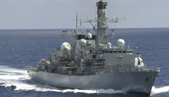 """英國皇家海軍護衛艦""""里士滿""""號資料圖片"""