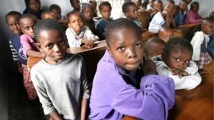 Des écoliers à Kinshasa (illustration).