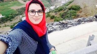 La periodista marroquí Hajar Raissouni.