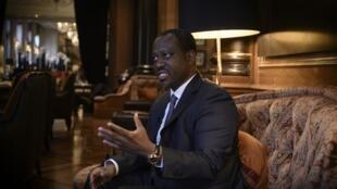 L'ancien Premier ministre ivoirien et ex-président de l'Assemblée nationale, Guillaume Soro, le 29 janvier 2020 à Paris.