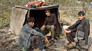 Afghan refugees in Calais in 2009