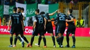 Les joueurs du Pyramids FC, le 29 décembre 2019.