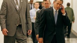 Le républicain John Boehner a été élu à la présidence de la Chambre, le 17 novembre 2010.
