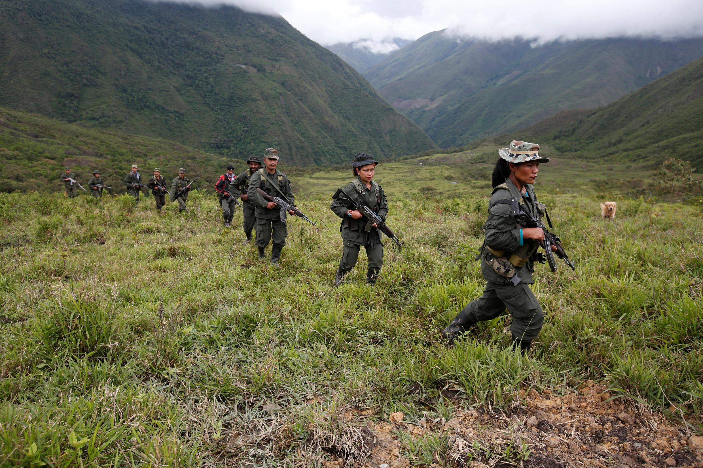 Боевики движения ФАРК в горах Колумбии