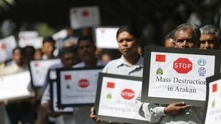 Người Rohingya sống tại Malaysia biểu tình kêu gọi chấm dứt bạo lực với người sắc tộc này tại Miến Điện, ngày 08/11/2012.