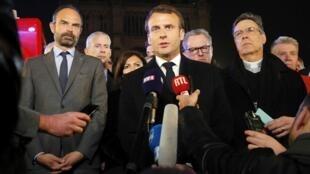 'La reconstruiremos', afirmó el presidente francés Emmanuel Macron este 15 de abril de 2019.