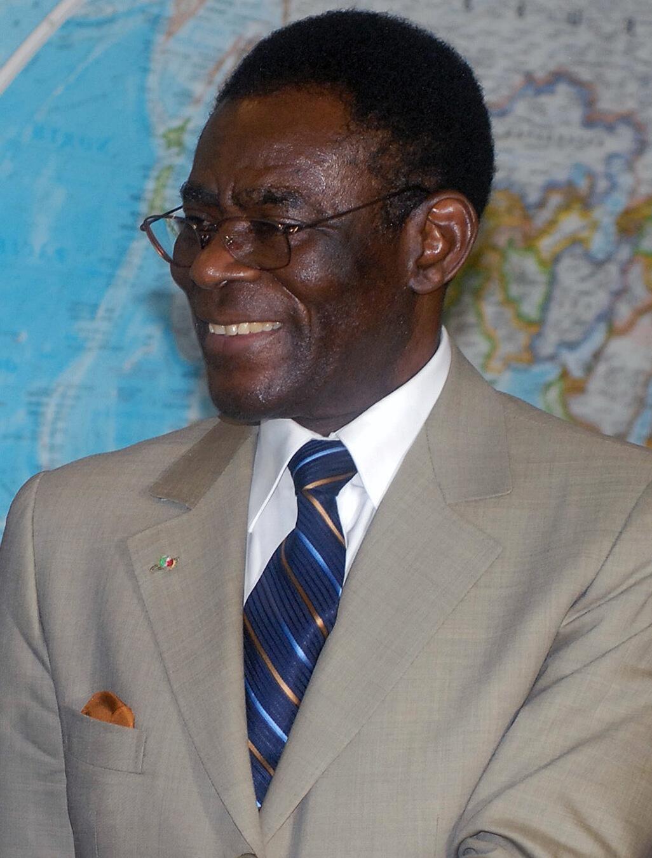 Teodoro Obiang Nguema, rais wa  Guiné Equatorial.
