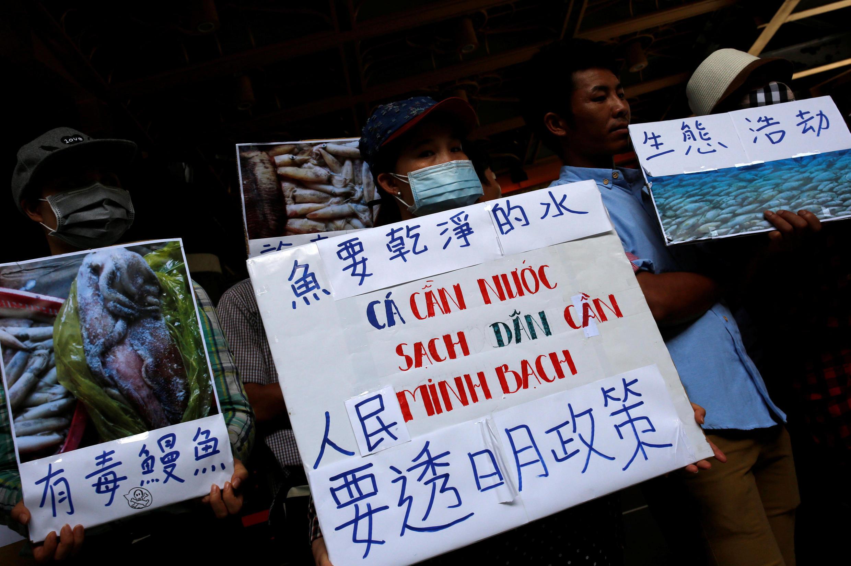 Biểu tình tại Đài Bắc ngày 17/06/2016 đòi tập đoàn Formosa của Đài Loan điều tra và công bố kết quả điều tra về thảm họa cá chết hàng loạt ở Việt Nam.