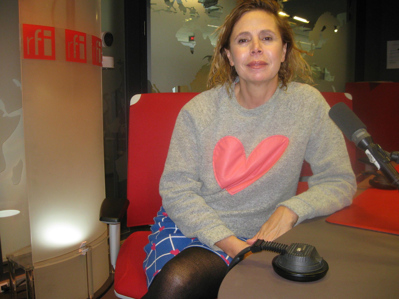 Agatha Ruiz de la Prada en los estudios de RFI.